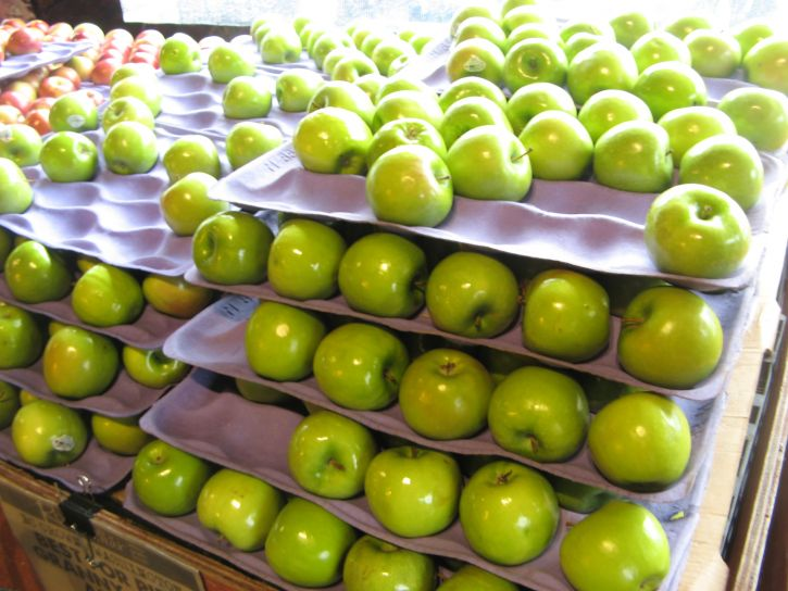 Pissaro, les pommes vertes